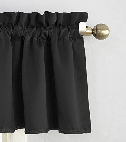 Sun Zero Barrow Energy Efficient Rod Pocket Curtain Valance 0 0