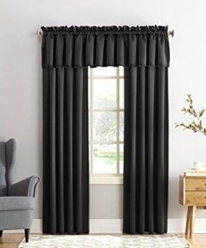 Sun Zero Barrow Energy Efficient Rod Pocket Curtain Valance 0 1 300x360