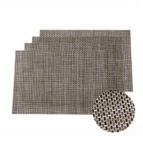 Sunshine Fashion Inc PlacematsPlacemats For Dining TableHeat Resistant Placemats Stain Resistant Washable PVC Table MatsKitchen Table MatsSets Of 6 0 0