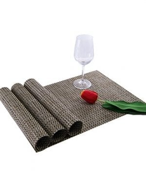 Sunshine Fashion Inc PlacematsPlacemats For Dining TableHeat Resistant Placemats Stain Resistant Washable PVC Table MatsKitchen Table MatsSets Of 6 0 2 300x360