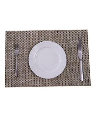 Sunshine Fashion Inc PlacematsPlacemats For Dining TableHeat Resistant Placemats Stain Resistant Washable PVC Table MatsKitchen Table MatsSets Of 6 0 3 300x360