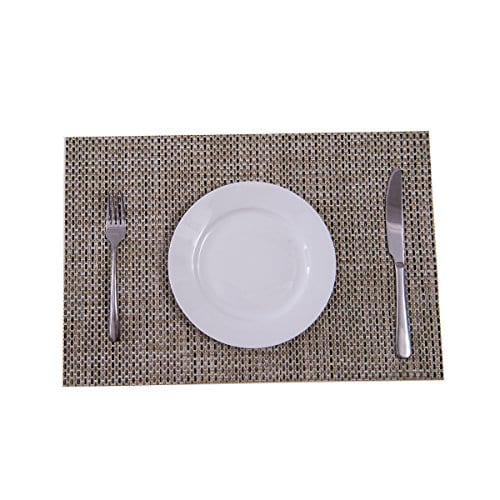 Sunshine Fashion Inc PlacematsPlacemats For Dining TableHeat Resistant Placemats Stain Resistant Washable PVC Table MatsKitchen Table MatsSets Of 6 0 3