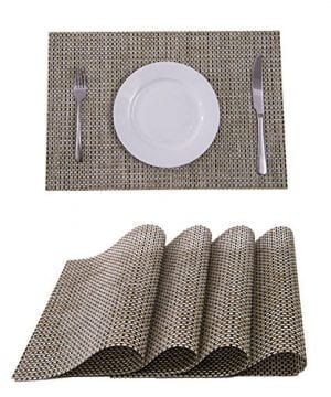 Sunshine Fashion Inc PlacematsPlacemats For Dining TableHeat Resistant Placemats Stain Resistant Washable PVC Table MatsKitchen Table MatsSets Of 6 0 300x360