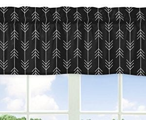 Sweet Jojo Designs Black And White Woodland Arrow Window Treatment Valance For Rustic Patch Collection 0 300x248