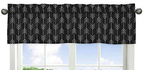 Sweet Jojo Designs Black And White Woodland Arrow Window Treatment Valance For Rustic Patch Collection 0