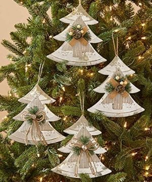 The Lakeside Collection Set Of 4 Farmhouse Country Christmas Oversized Tree Ornaments 0 300x360