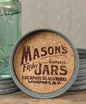 The Rusted Key Mason Jar Lid Coaster Mason Jar Symbol Set Of Four 0 300x360
