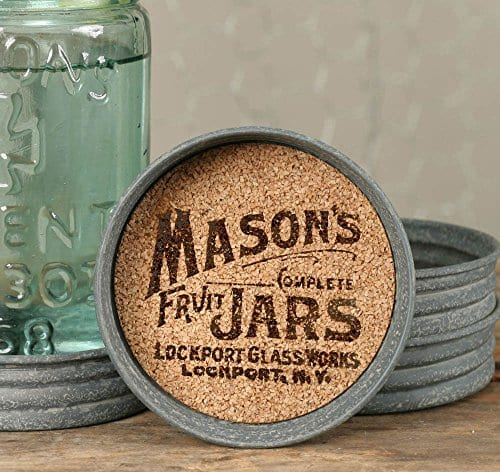 The Rusted Key Mason Jar Lid Coaster Mason Jar Symbol Set Of Four 0