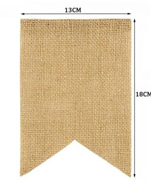 Tinksky Merry Christmas Banner Burlap Butting Garland Banner For Christmas Decoration 0 3 300x360