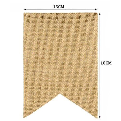 Tinksky Merry Christmas Banner Burlap Butting Garland Banner For Christmas Decoration 0 3