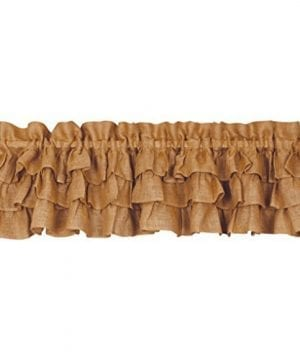 Triple Ruffle Burlap Country Valance 0 300x360