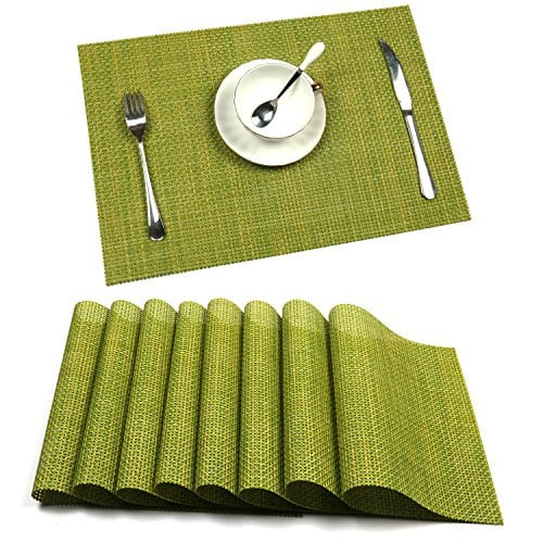 UArtlines Set Of 6 PlacematsPlacemats For Dining TableHeat Resistant Placemats Stain Resistant Washable PVC Table MatsKitchen Table Mats 0 0