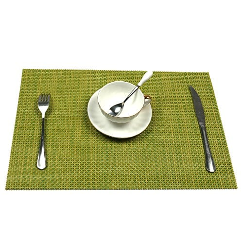 UArtlines Set Of 6 PlacematsPlacemats For Dining TableHeat Resistant Placemats Stain Resistant Washable PVC Table MatsKitchen Table Mats 0 1