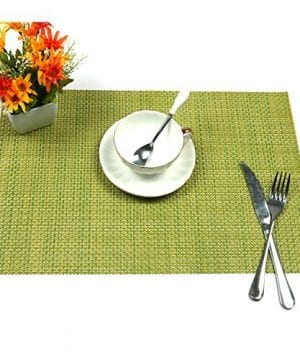 UArtlines Set Of 6 PlacematsPlacemats For Dining TableHeat Resistant Placemats Stain Resistant Washable PVC Table MatsKitchen Table Mats 0 2 300x360