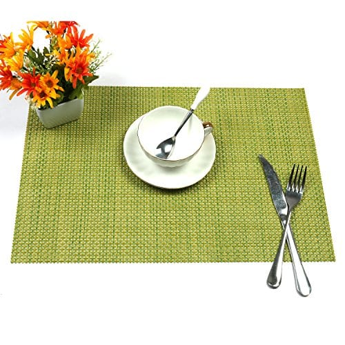 UArtlines Set Of 6 PlacematsPlacemats For Dining TableHeat Resistant Placemats Stain Resistant Washable PVC Table MatsKitchen Table Mats 0 2