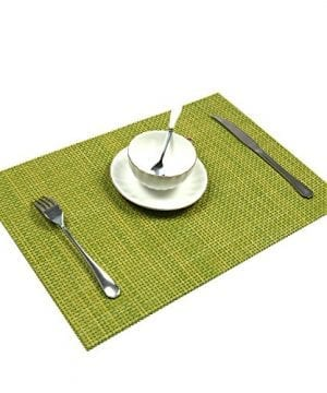 UArtlines Set Of 6 PlacematsPlacemats For Dining TableHeat Resistant Placemats Stain Resistant Washable PVC Table MatsKitchen Table Mats 0 3 300x360