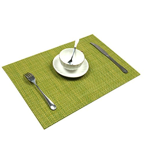 UArtlines Set Of 6 PlacematsPlacemats For Dining TableHeat Resistant Placemats Stain Resistant Washable PVC Table MatsKitchen Table Mats 0 3