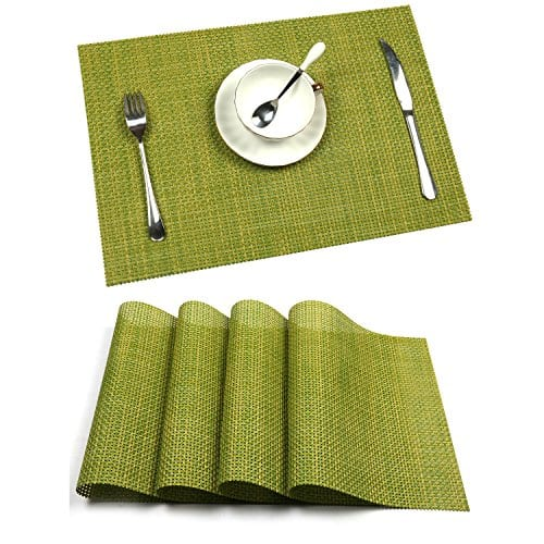 UArtlines Set Of 6 PlacematsPlacemats For Dining TableHeat Resistant Placemats Stain Resistant Washable PVC Table MatsKitchen Table Mats 0