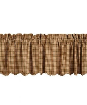 VHC Brands 7511 Millsboro Valance Scalloped Lined 16x72 0 300x360