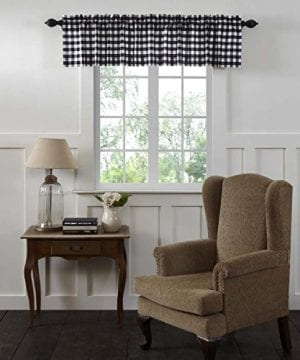VHC Brands Annie Buffalo Check Lined Valance 0 0 300x360