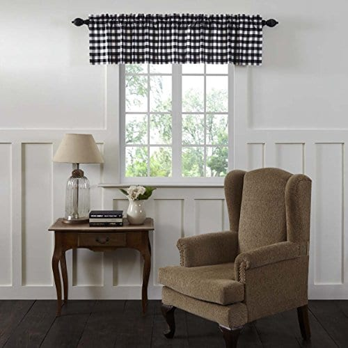 VHC Brands Annie Buffalo Check Lined Valance 0 0
