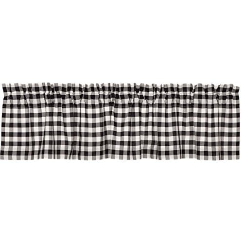 VHC Brands Annie Buffalo Check Lined Valance 0