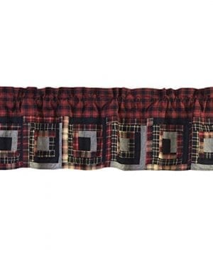 VHC Brands Cumberland Lined Patchwork Valance 0 300x360