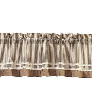 VHC Brands Kendra Stripe Lined Valance 0 300x360