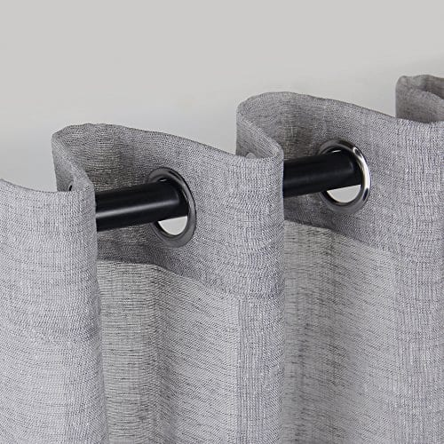 VOILYBIRD Vitoria 2 Pack Faux Linen Semi Sheer Curtains For Living Room 0 0