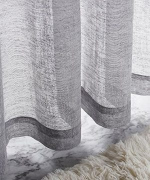 VOILYBIRD Vitoria 2 Pack Faux Linen Semi Sheer Curtains For Living Room 0 2 300x360