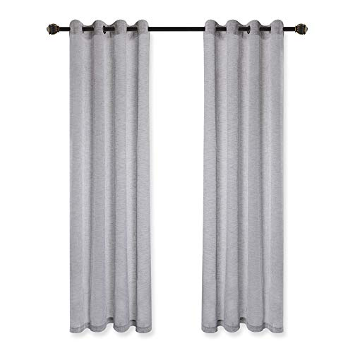 VOILYBIRD Vitoria 2 Pack Faux Linen Semi Sheer Curtains For Living Room 0