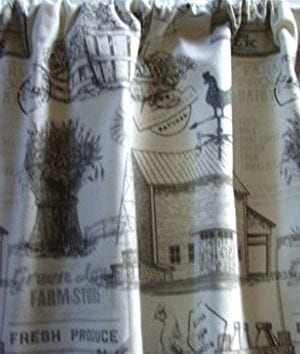 Valance Farmhouse Custom Made Window Treatment 0 300x354