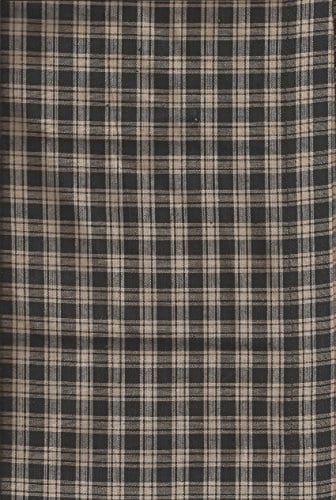Valance Homespun Black And Tan Country Primitive Theme Curtain Window Treatment Extra Wide 0 2