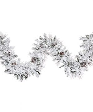Vickerman Flocked Atka Pine Garland 0 300x360