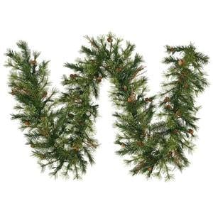 Vickerman Mixed Country Pine Garland With 200 Tips 9 Feet By 12 Inch 0