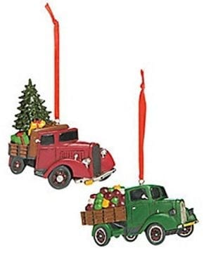 Vintage Truck Ornaments Country Christmas Ornaments Set Of 12 0 300x360
