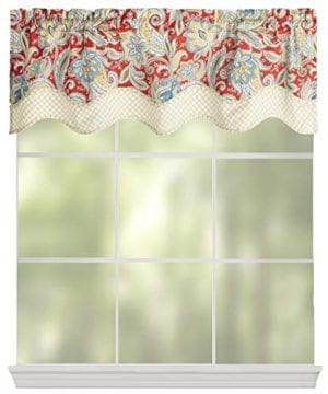Waverly Traditions By Rustic Retreat Paisley Floral Valance 52 W X 16 L Gem Blue Crimson Yellow 0 0 300x360