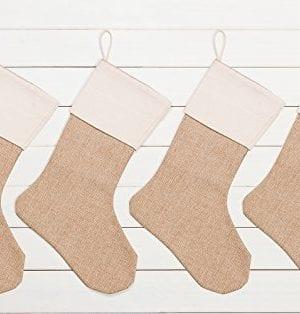WeiVan Christmas Stocking Plain Burlap Stocking Decorum Large 0 0 300x314
