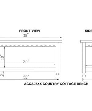 Alaterre ACCA03WA Rustic Cottage Bench White Antique 0 2 300x360