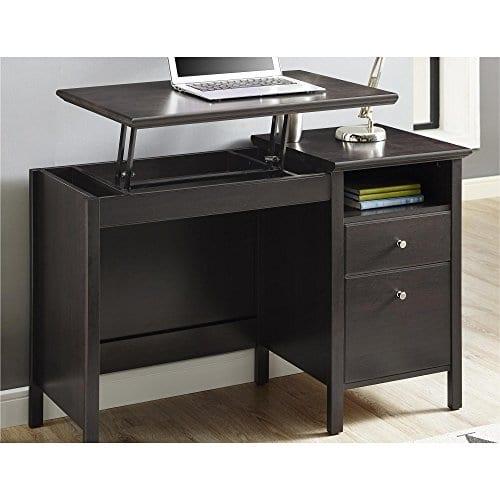 Ameriwood Home 9564196COM Adler Lift Top Desk Rustic Oak 0 0
