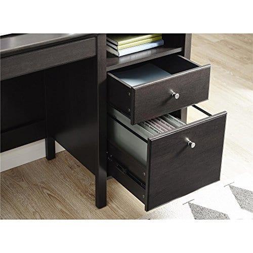 Ameriwood Home 9564196COM Adler Lift Top Desk Rustic Oak 0 1