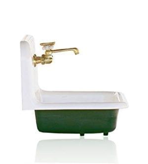 Antique Inspired 36 High Back Farm Sink Cast Iron Original Porcelain Wall Mount Kitchen Sink Package Hague Blue 0 1 300x333