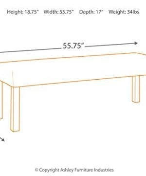 Ashley Furniture D775 09 Large Dining Room Bench 0 2 300x360