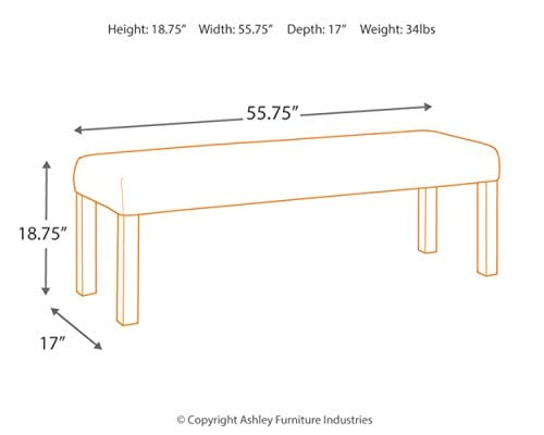 Ashley Furniture D775 09 Large Dining Room Bench 0 2