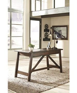 Ashley Furniture Signature Design Baldridge Large Leg Home Office Desk Rustic Brown 0 1 300x360