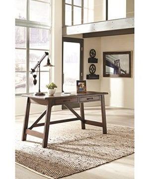 Ashley Furniture Signature Design Baldridge Large Leg Home Office Desk Rustic Brown 0 2 300x360