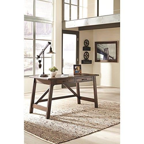 Ashley Furniture Signature Design Baldridge Large Leg Home Office Desk Rustic Brown 0 2
