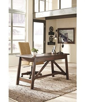Ashley Furniture Signature Design Baldridge Large Leg Home Office Desk Rustic Brown 0 3 300x360