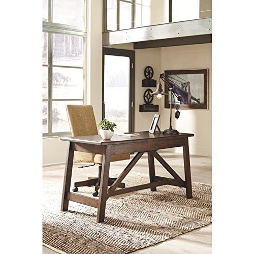 Ashley Furniture Signature Design Baldridge Large Leg Home Office Desk Rustic Brown 0 3