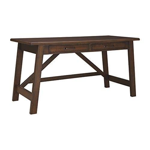Ashley Furniture Signature Design Baldridge Large Leg Home Office Desk Rustic Brown 0